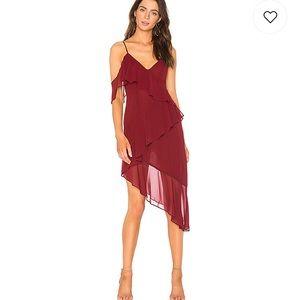 Majorelle Pixie Dress in Burgundy
